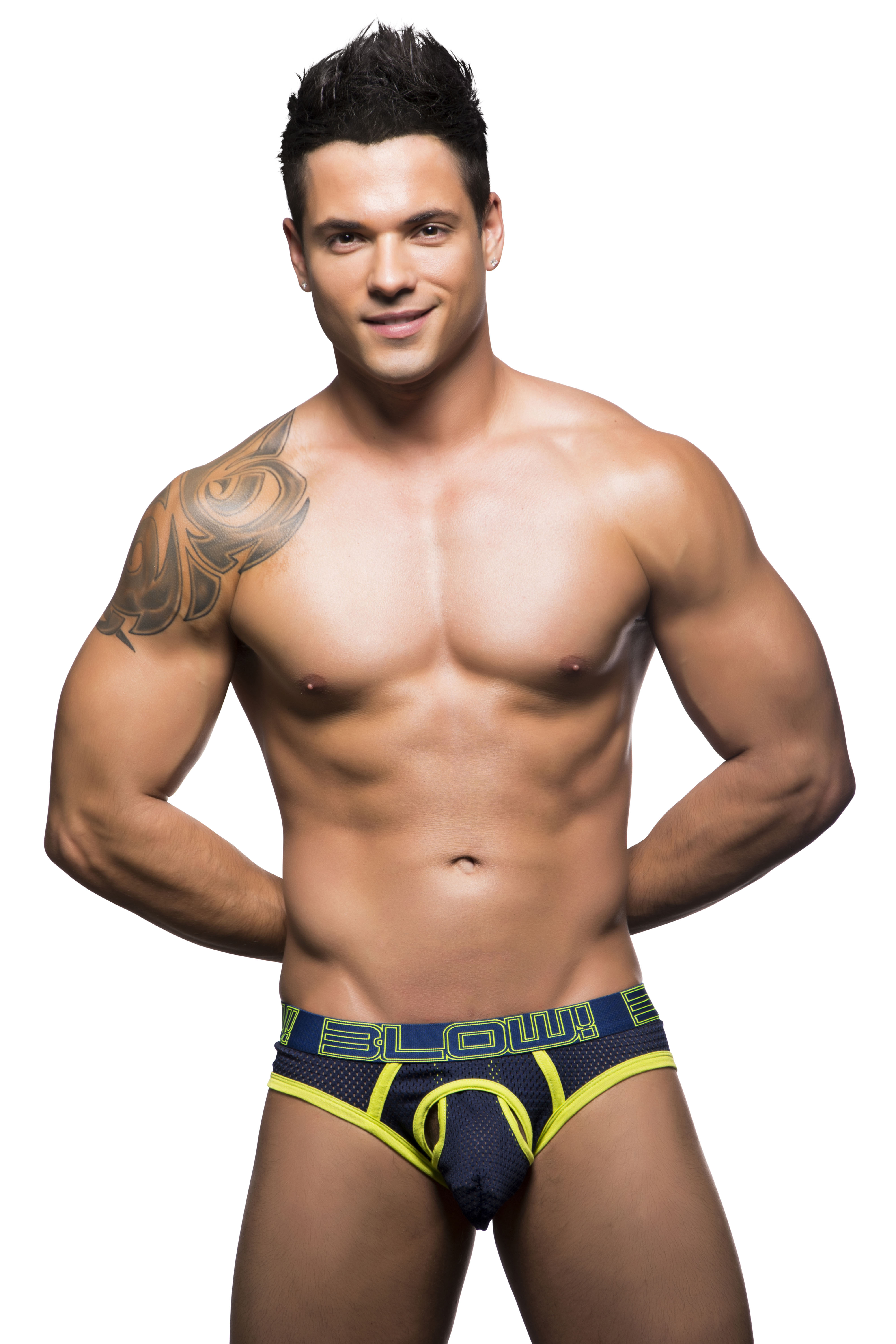 Andrew Christian Blow Collection Navy Color Sexy Mesh